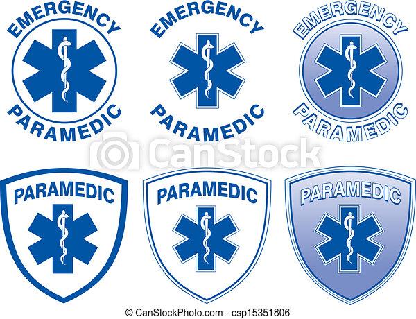 Diseños médicos paramédicos - csp15351806