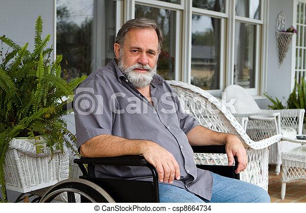 Paraplegic Man - csp8664734