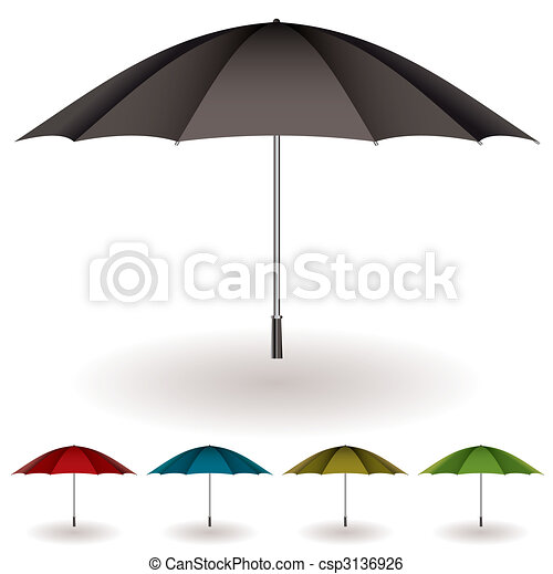 parapluie, coloré, collection - csp3136926