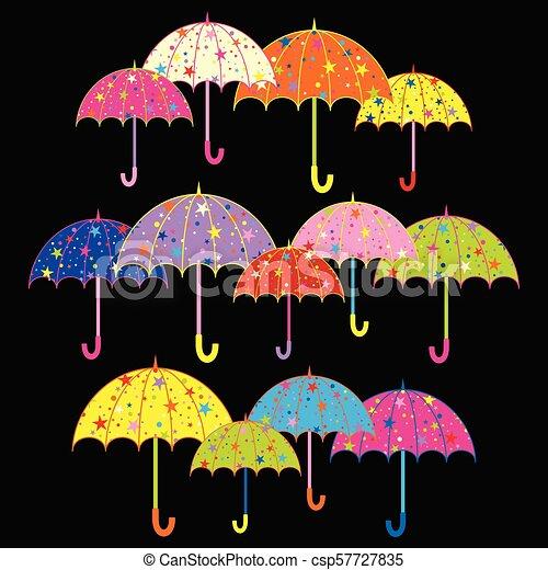 parapluie, coloré, fond - csp57727835