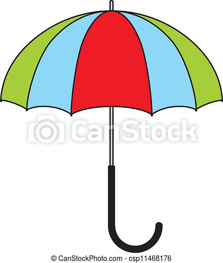 parapluie, coloré - csp11468176