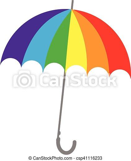 parapluie, coloré - csp41116233