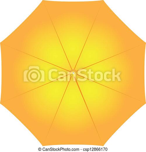 parapluie, femme, jaune - csp12866170