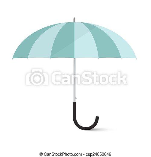 parapluie, isolé, illustration, vecteur, fond, blanc - csp24650646