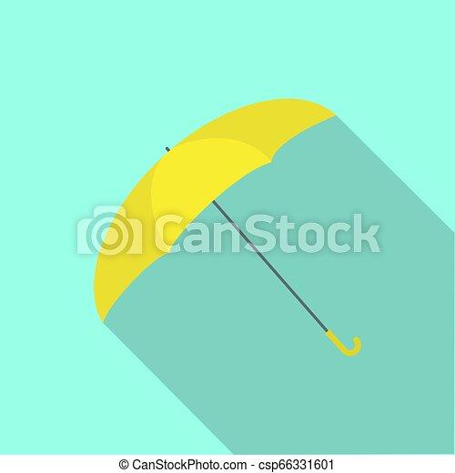 parapluie, jaune, icône - csp66331601
