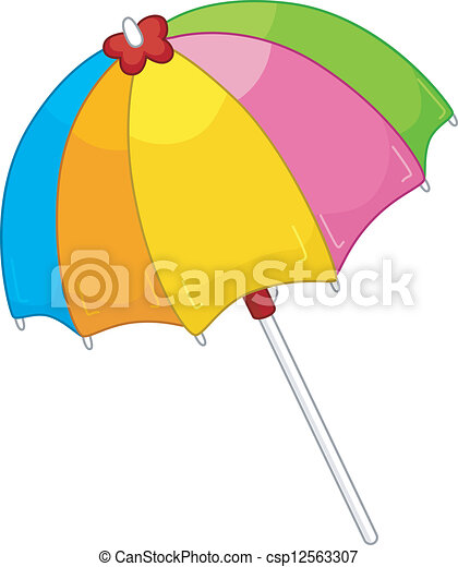 parapluie plage - csp12563307
