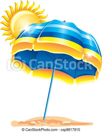 parapluie, plage - csp9817915