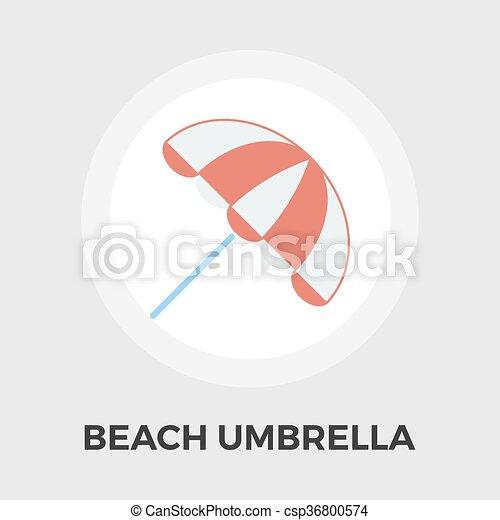 parapluie plage, icône - csp36800574