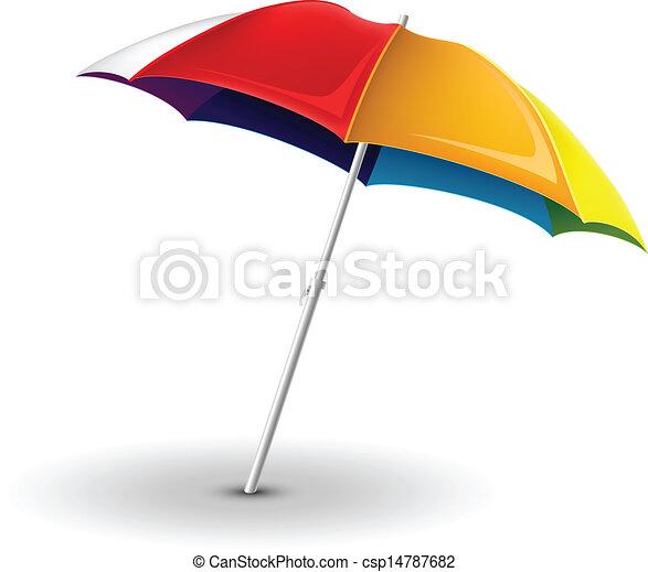 parapluie plage - csp14787682