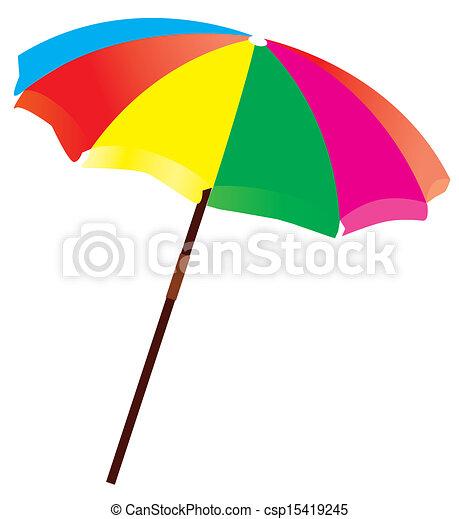 parapluie plage - csp15419245