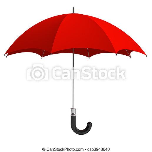 parapluie, rouges - csp3943640