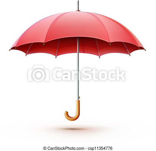 parapluie, rouges - csp11354776