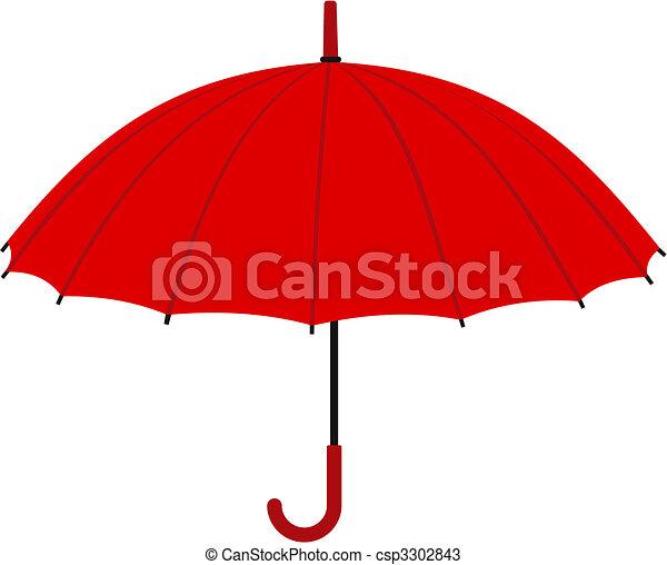 parapluie, rouges - csp3302843
