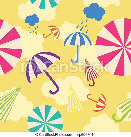 parapluie, seamless, fond - csp6077010