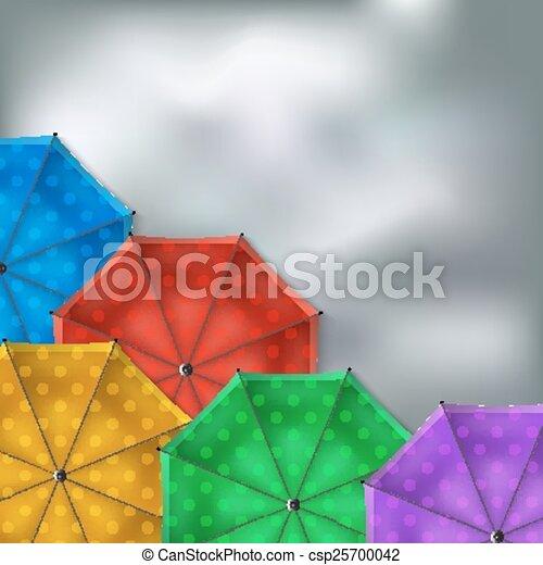 parapluies, arrière-plan coloré - csp25700042
