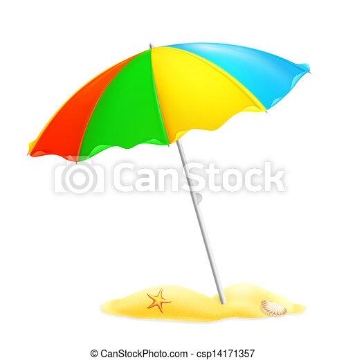 Parasol de playa, 10eps - csp14171357