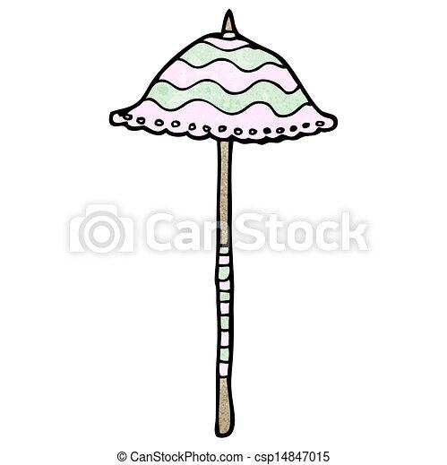 parasol, dessin animé - csp14847015