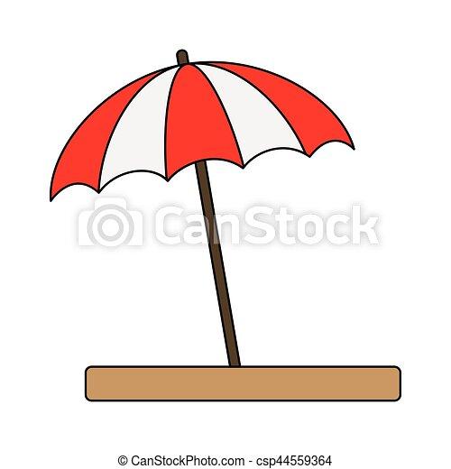 Sur illustration arri re plan vecteur blanc parasol plage ic ne - Dessin parasol ...
