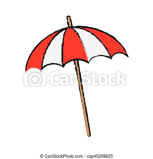 Parasol plage ic ne backgronund illustration vecteur - Dessin parasol ...