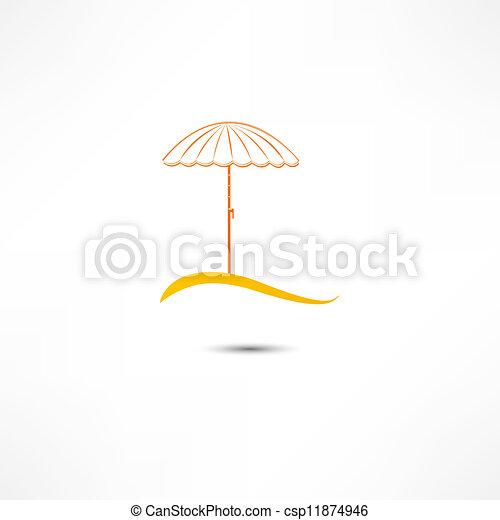 parasol, plage - csp11874946