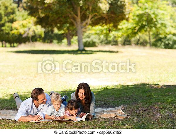 parc, famille, ensemble - csp5662492