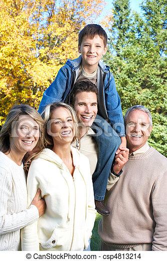parc, famille, heureux - csp4813214
