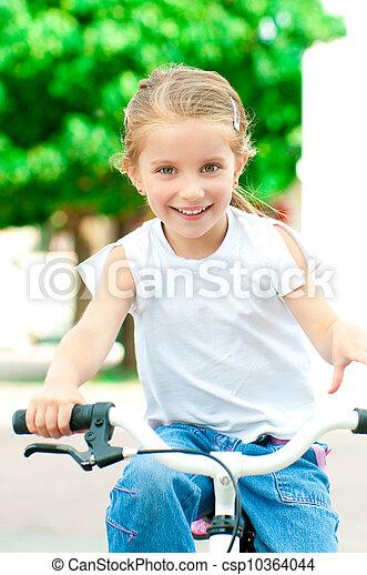 parc, girl, vélo - csp10364044