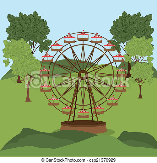 parc, thème, conception - csp21370929