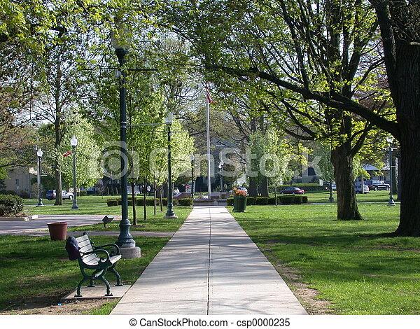 parc ville, chemin - csp0000235
