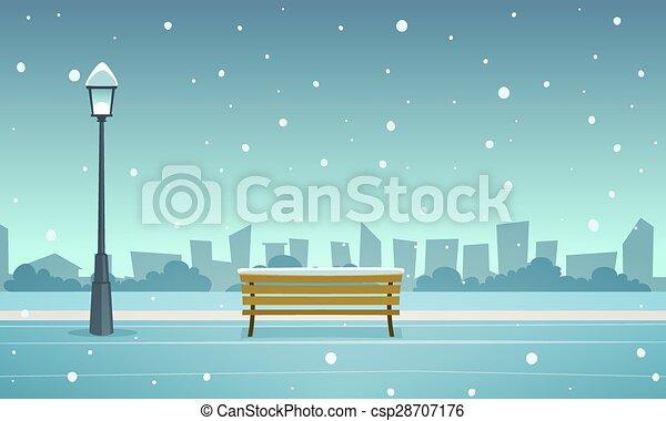 parc ville, hiver - csp28707176