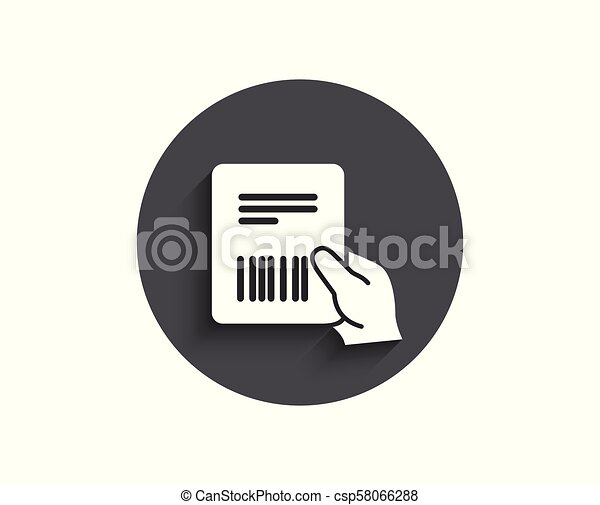 Parcel Invoice Simple Icon Delivery Document Parcel Invoice Simple