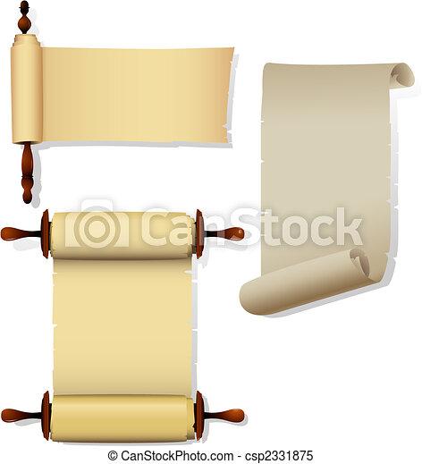 Parchment banners - csp2331875