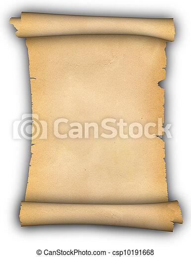 parchment., boekrol - csp10191668