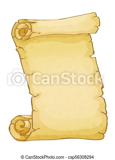 Parchment isolated on white background - csp56308294