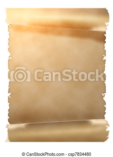 parchment scroll scroll of old parchment object isolated over white