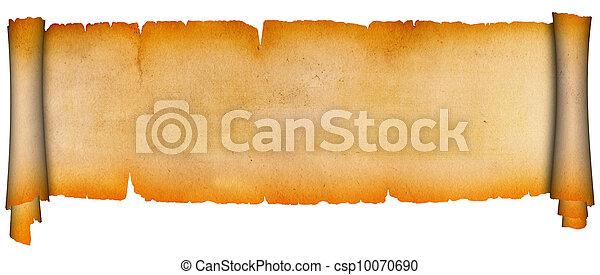 parchment., scroll - csp10070690