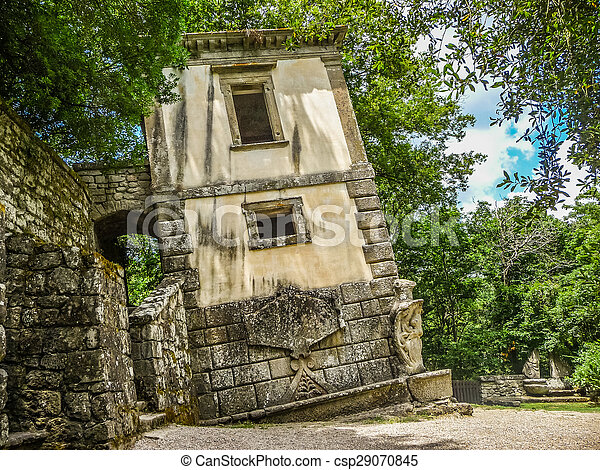 Parco dei mostri (park of the monsters) in bomarzo, province of ...