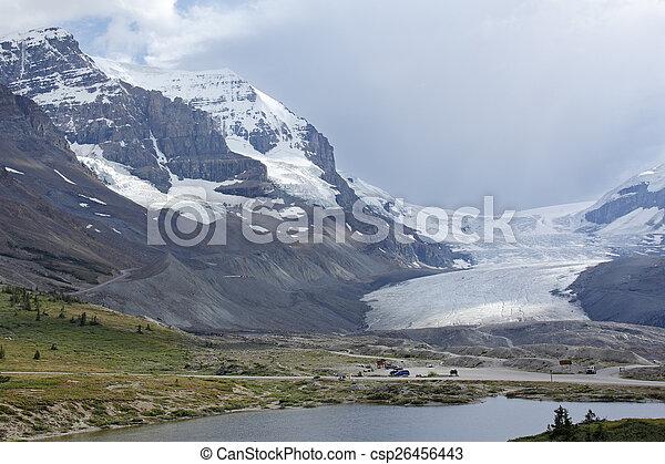 parco, nazionale, icefield, columbia, diaspro - csp26456443