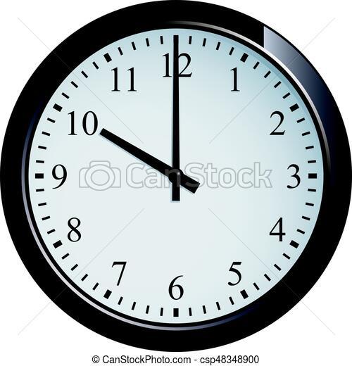 Pared 10 conjunto reloj punto clipart vectorial - Reloj pintado en la pared ...