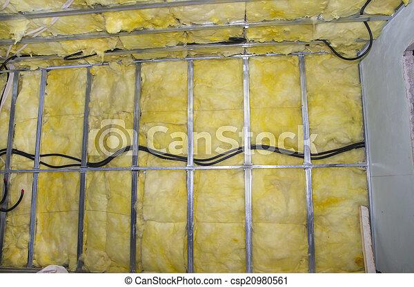 Una pared de aislamiento caliente - csp20980561