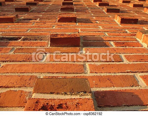 Alivia la pared de ladrillos - csp8362192