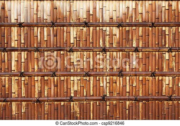 La pared japonesa de bambú - csp9216846
