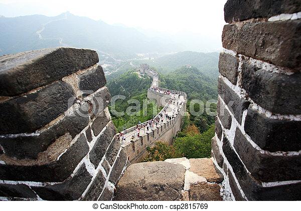 El gran muro en Badaling cerca de Beijing - csp2815769
