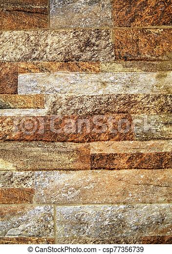 pared, colorido, piedra, plano de fondo - csp77356739