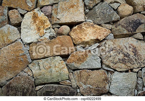 pared de piedra - csp49222499