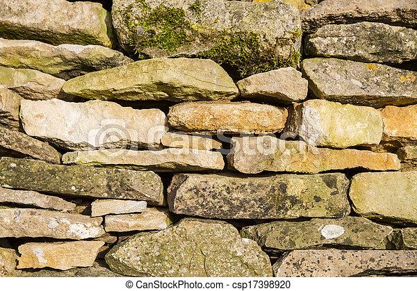 La pared de piedra seca Cotswold - csp17398920