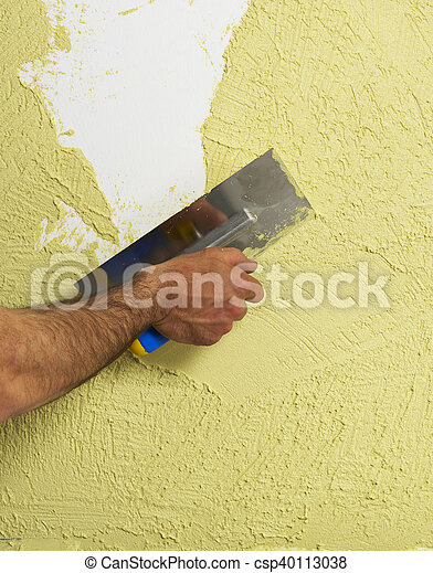 Plastando una pared - csp40113038