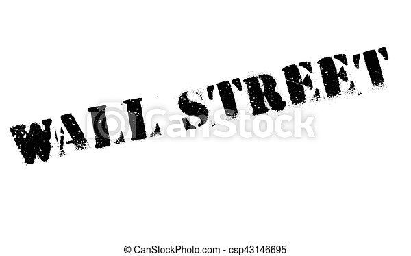 Un sello de Wall Street - csp43146695