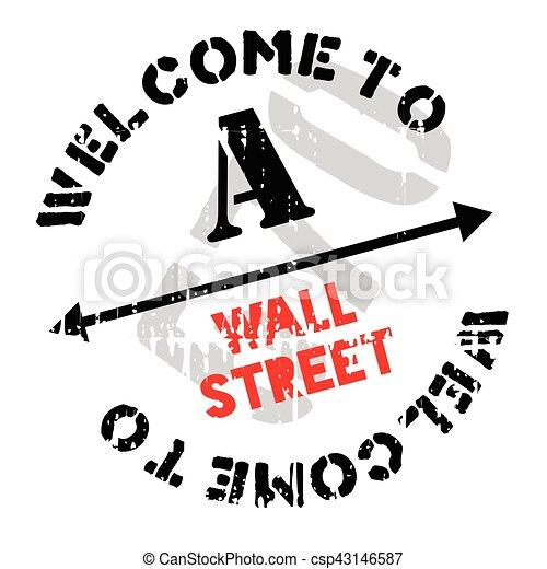 Un sello de Wall Street - csp43146587