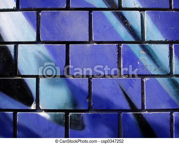 La pared de graffiti - csp0347252